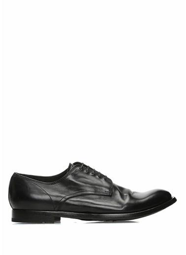 Officine Creative %100 Deri Bağcıklı Klasik Ayakkabı Siyah